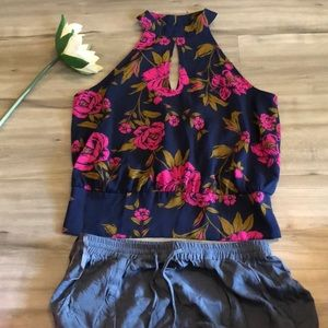 Floral shell sleeveless